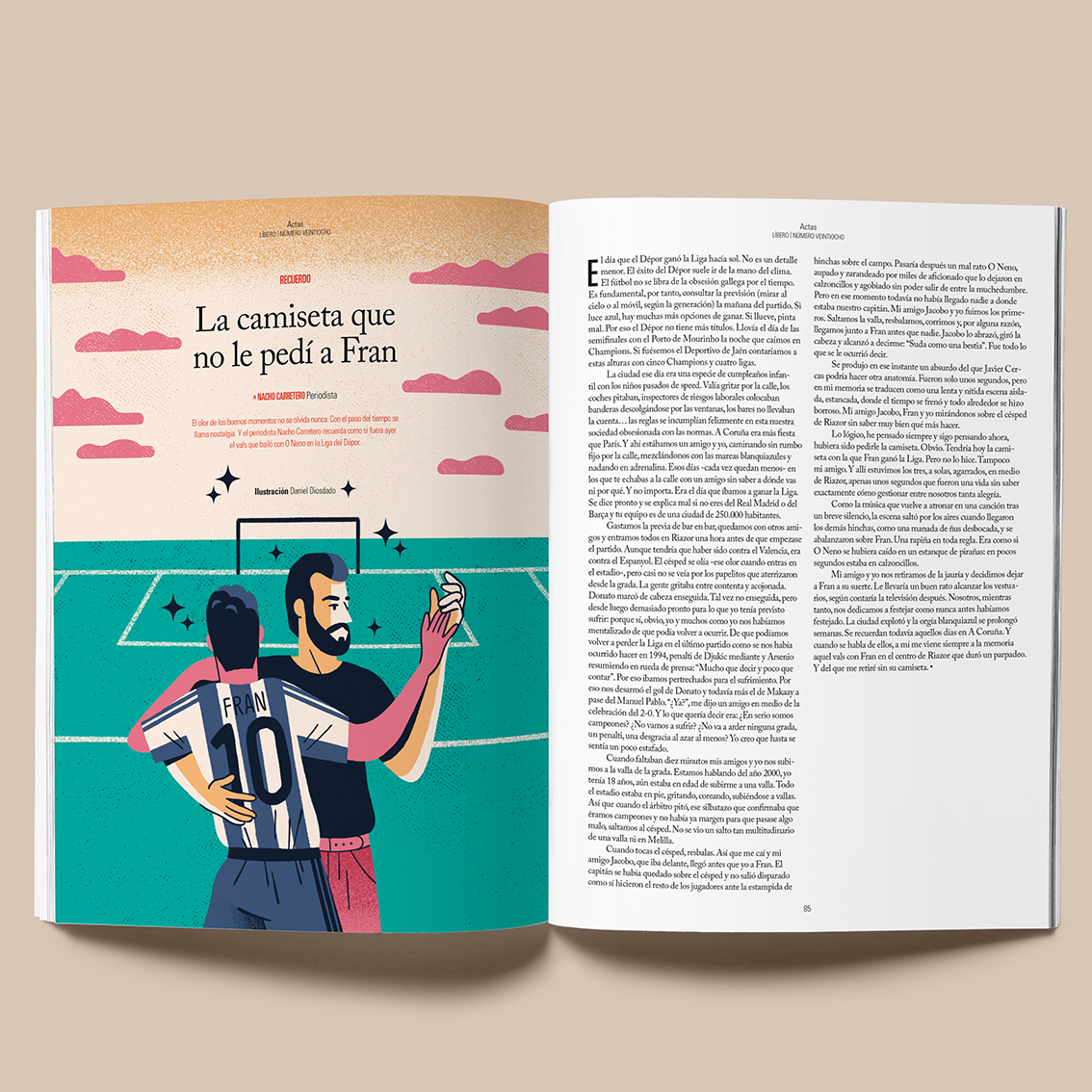 Daniel Diosdado: Revista Líbero. SuperDepor